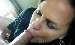 Amateur BBW granny gives a nice blowjob