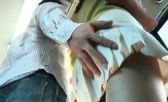 Japanese babe gets totally manhandled by excited dudes