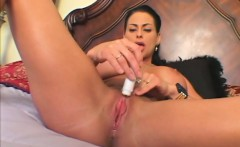 Busty milf toys her hairy pussy