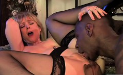 Interracial banging with a hot MILF