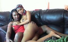 Big black boobs in horny ebony action
