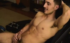 Hot gay dude in solo show