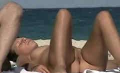 Nude beach sexy babe craze voyeur video