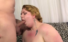 BBW Velma Voodoo shows her goods and is filled with cock