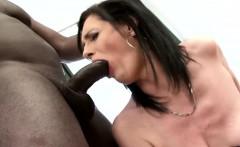 Laura Dark sucking big black cock