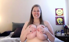 A BBW Showing Her Big Bouncy Boobs