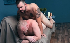 Horny Aiden Storm and Rusty McMann fucking raw and bare