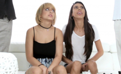 Teens Marilyn Mansion and Victoria Vargaz banged by stepdads