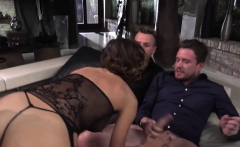 Huge boobs tattooed woman Malena double anal gangbang