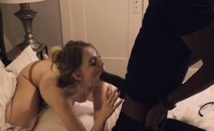 Attractive blonde babe twat fucked and creampied by BBC