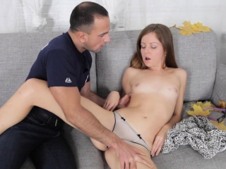 Sweetheart sucks and fucks like eager at a sex model casting