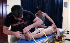 Asian Boy Vahn Bound And Tickled
