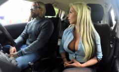 Fake Driving School Busty blonde Barbie Sins