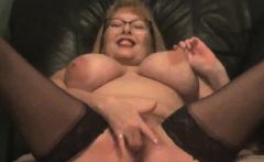 3 Huge Waterfall Squirts From Busty Granny