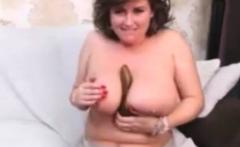 Mature strips big boobs
