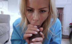 Stepsons friend got a hot cock massage by a busty mature