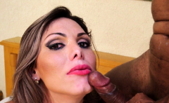 Mature Ts Facialized And Anally Pounded