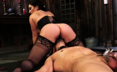 Mistress Fucks Male Slave's Ass
