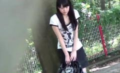 Asian babe public peeing