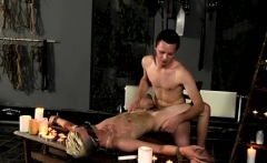 Gay dicks in bondage and boy blowjob His naked figure is def