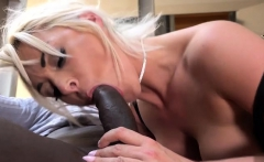 Big tits milf ball licking with cum in mouth