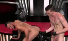 Gay porn hard group sex boy Aiden Woods is on his back and g