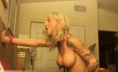 Tattoo pornstar interracial with cum on pussy