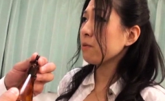 Beautiful asian babe gets down on all fours and screwed hard
