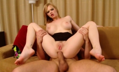 Pale Blonde Gets Roughed In All Her Holes