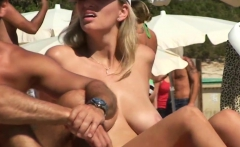 Close-up Beach Topless Teens Voyeur Video