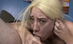 Trashy Blonde Amateur Gagging On White Dick During Face Fuck