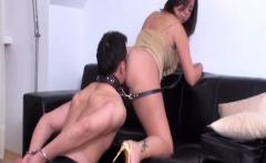 Slaves lick ass of Dominas