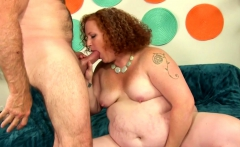 Fat Redhead Scarlett Raven Is Drilled