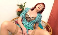 Naughty mature Irena playing with herself