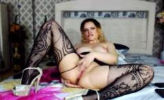 Huge bbw toys her fat cunt