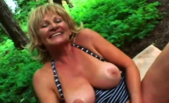Hot blonde milf gets banged by a pecker