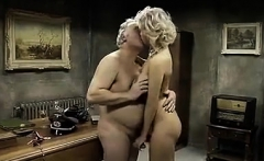Young Lesbian Worships Feet Of The Mature Woman