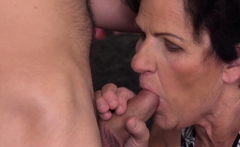 Kinky granny sucking and fucking