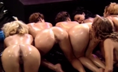 A bunch of bootylicious lesbians in retro porn