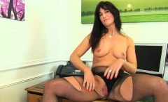 UK milf Annabella Ford will be your naughty secretary