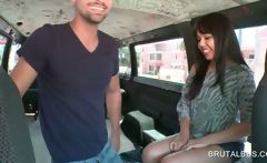 Asian sweety gets talked into sex in the bus