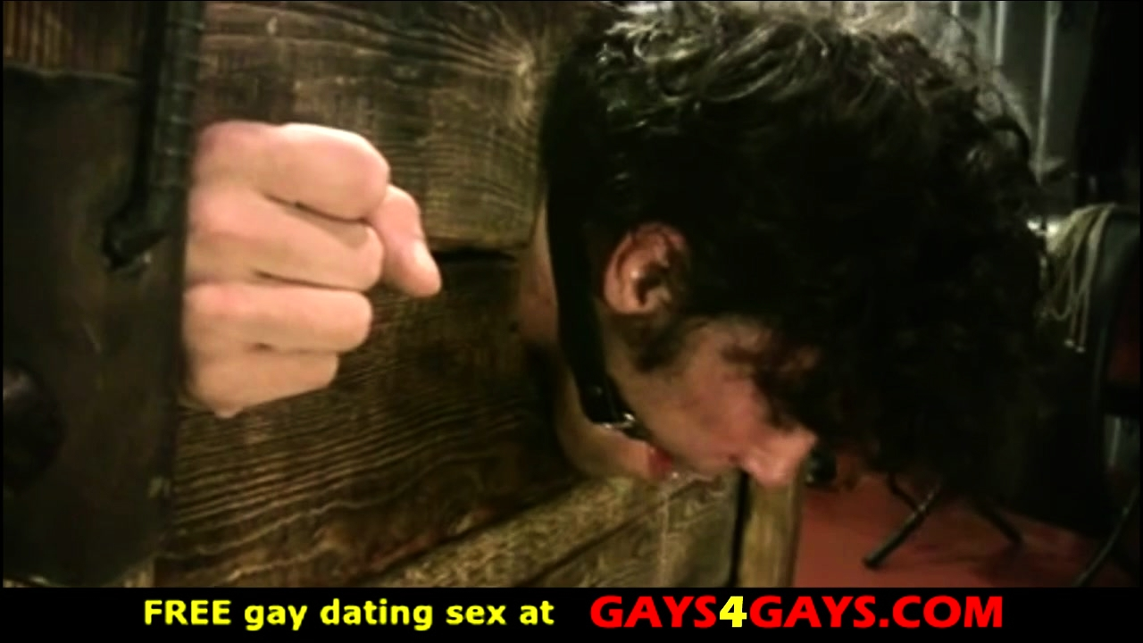 Two sexy muscle gays in BDSM action