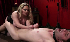 Busty blonde mistress enjoys hardcore BDSM