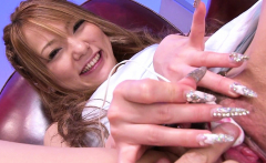 Japanese fuck doll is playing with a mini vibrator