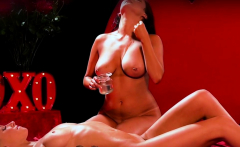 Lesbian busty babe oiled and massaged her girlfriend