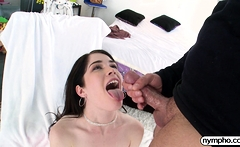 NYMPHO Fucking Evelyn Claire's tight fuck hole