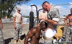 Old school gay sex man boy Staff Sergeant knows what is best