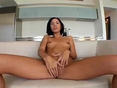 I jerk my MILF pussy as I suck dick and drink cum