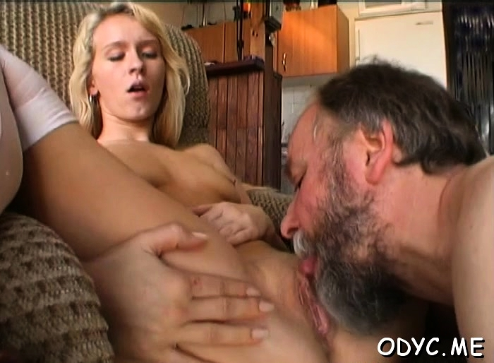 Perverted old guy gets favourable with a young snatch