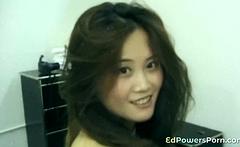 Asian first timer in retro porno
